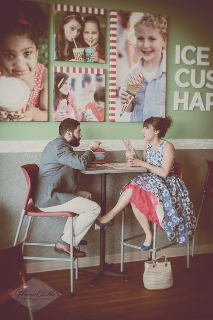 Ice Cream Shop Engagement Photography