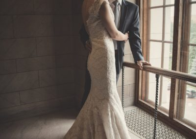 Bride and Groom at James J. Hill Library