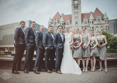 St. Paul Landmark Center Wedding Party Photography
