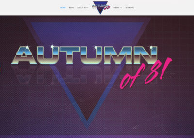 Autumn of 81 website