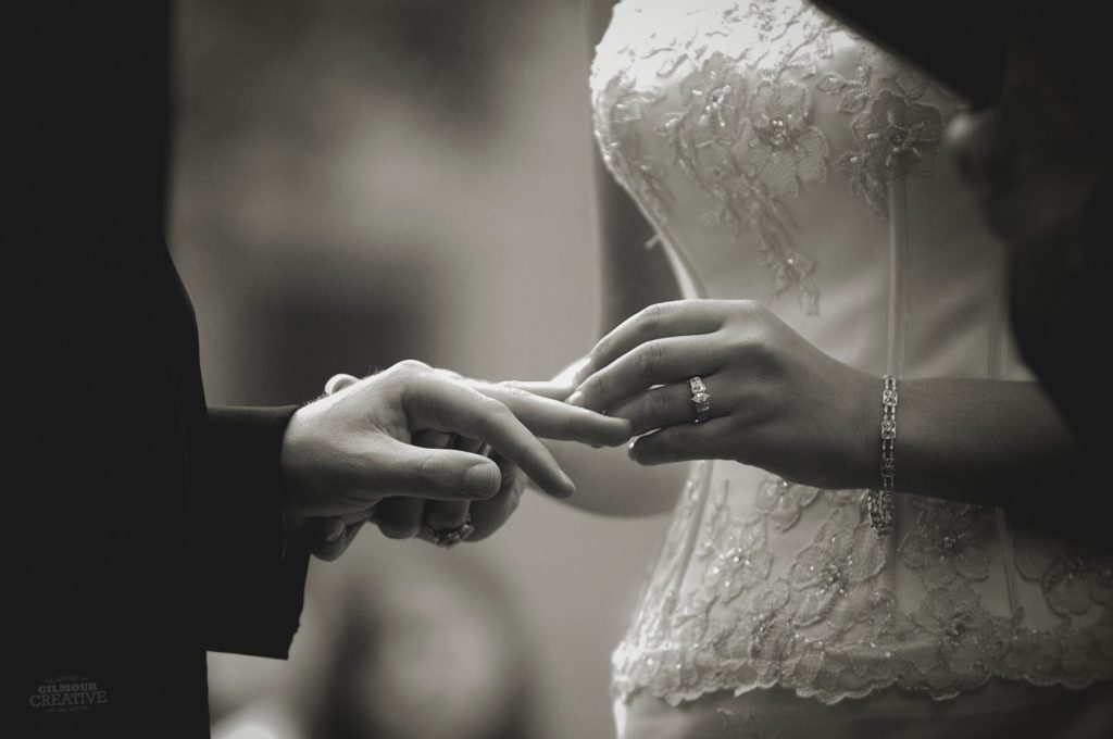 Bride and Groom Ring Exchange Photo