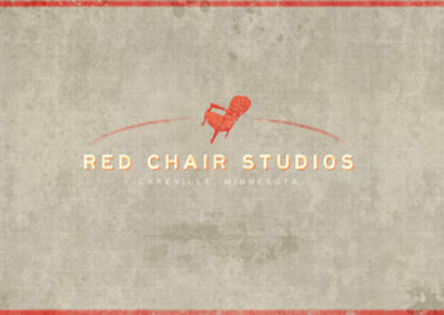 Red Chair Studios logo Design