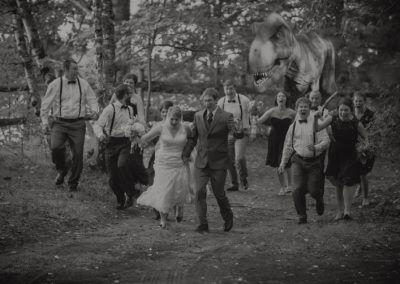 T-Rex attacks wedding party
