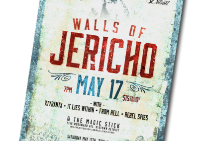 Walls of Jericho Concert Poster