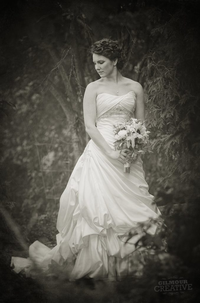Black and White Wedding Bride
