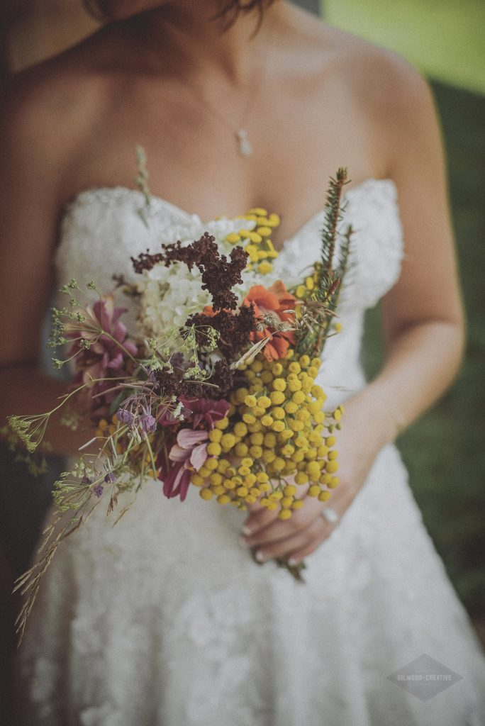 Wedding Wild Flower Bouquet Photography
