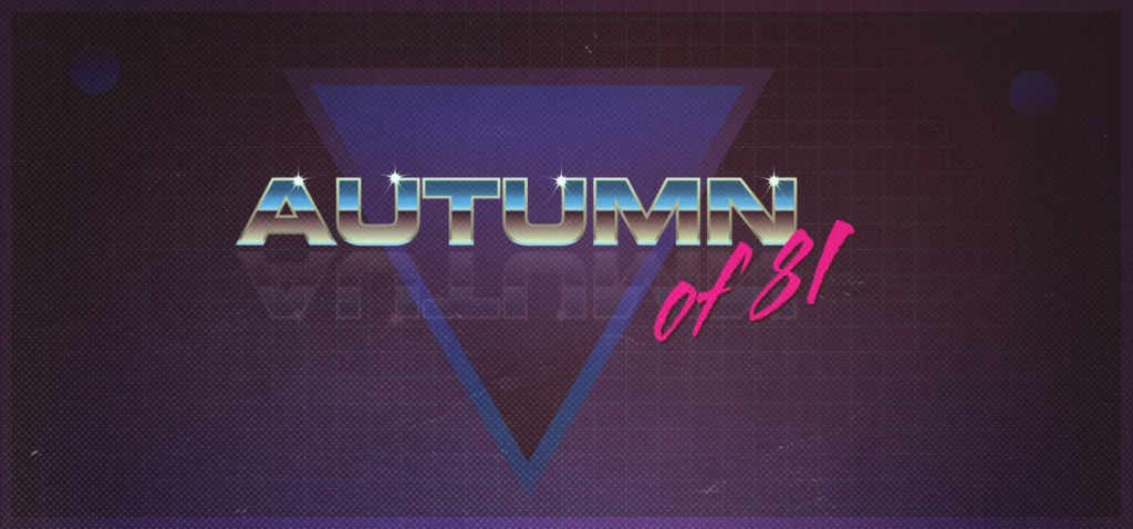Autumn of 81 retro graphic design