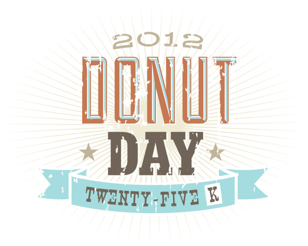 Donut Day 25K logo design