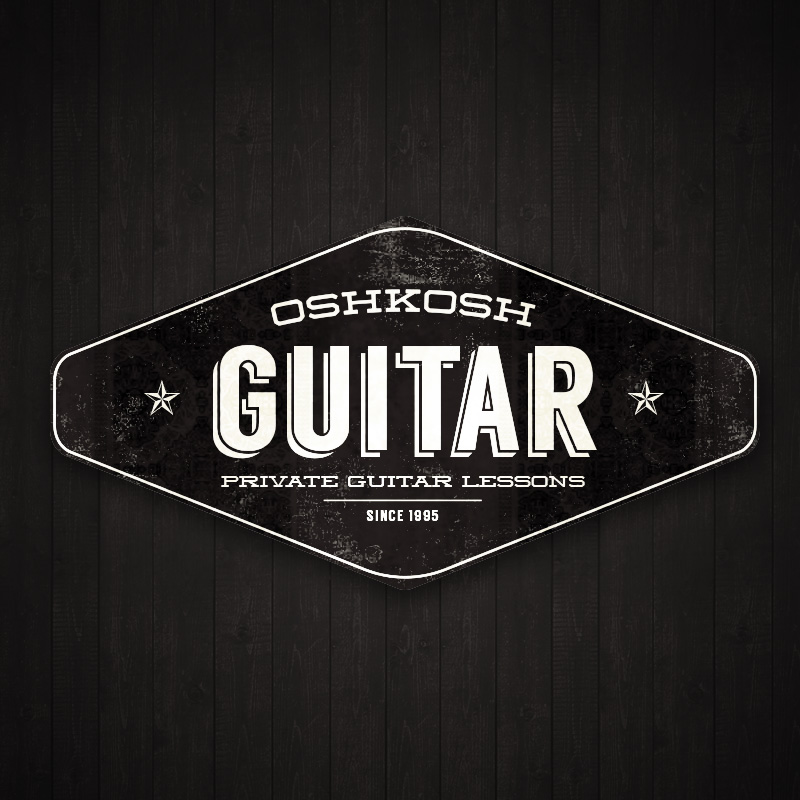 Oshkosh Guitar logo design
